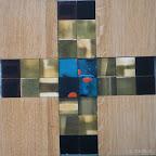 Kommunionkreuz für Judith,  Messing, Acryl, Glas, 2003