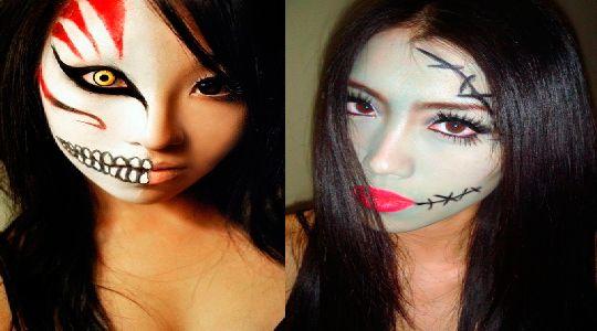 Maquillaje para halloween como maquillarse saccperuano for Caras pintadas para halloween