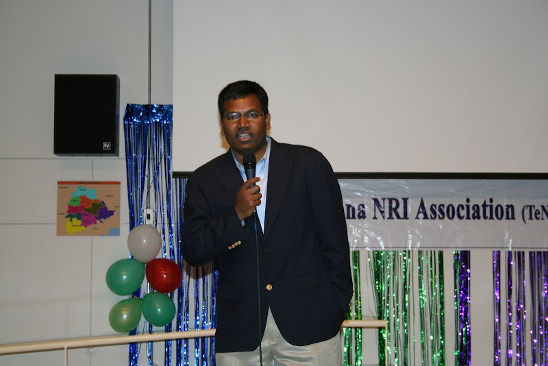 Venkat Maroju delivering welcome speech