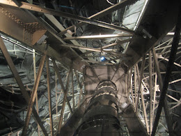 Looking up into the Statue of Liberty.