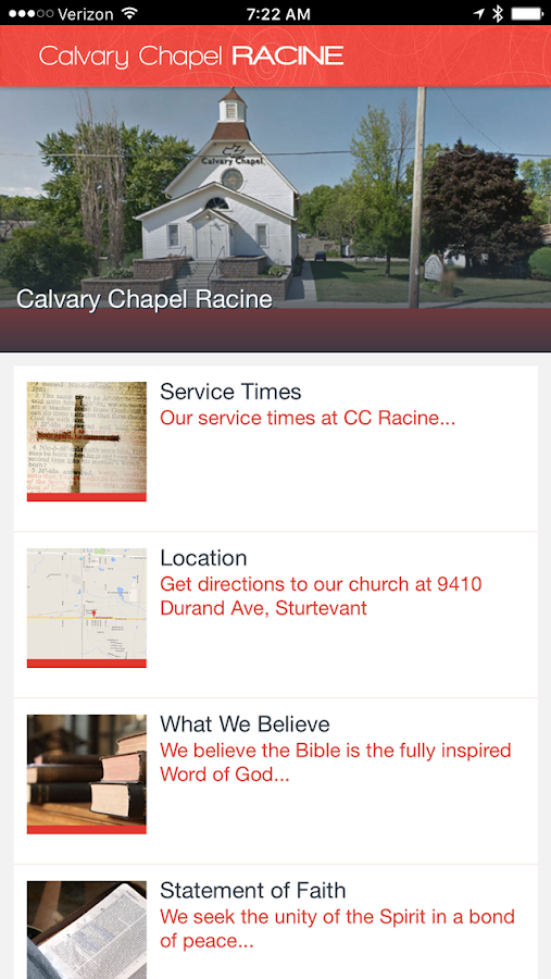 Calvary Chapel Racine- screenshot