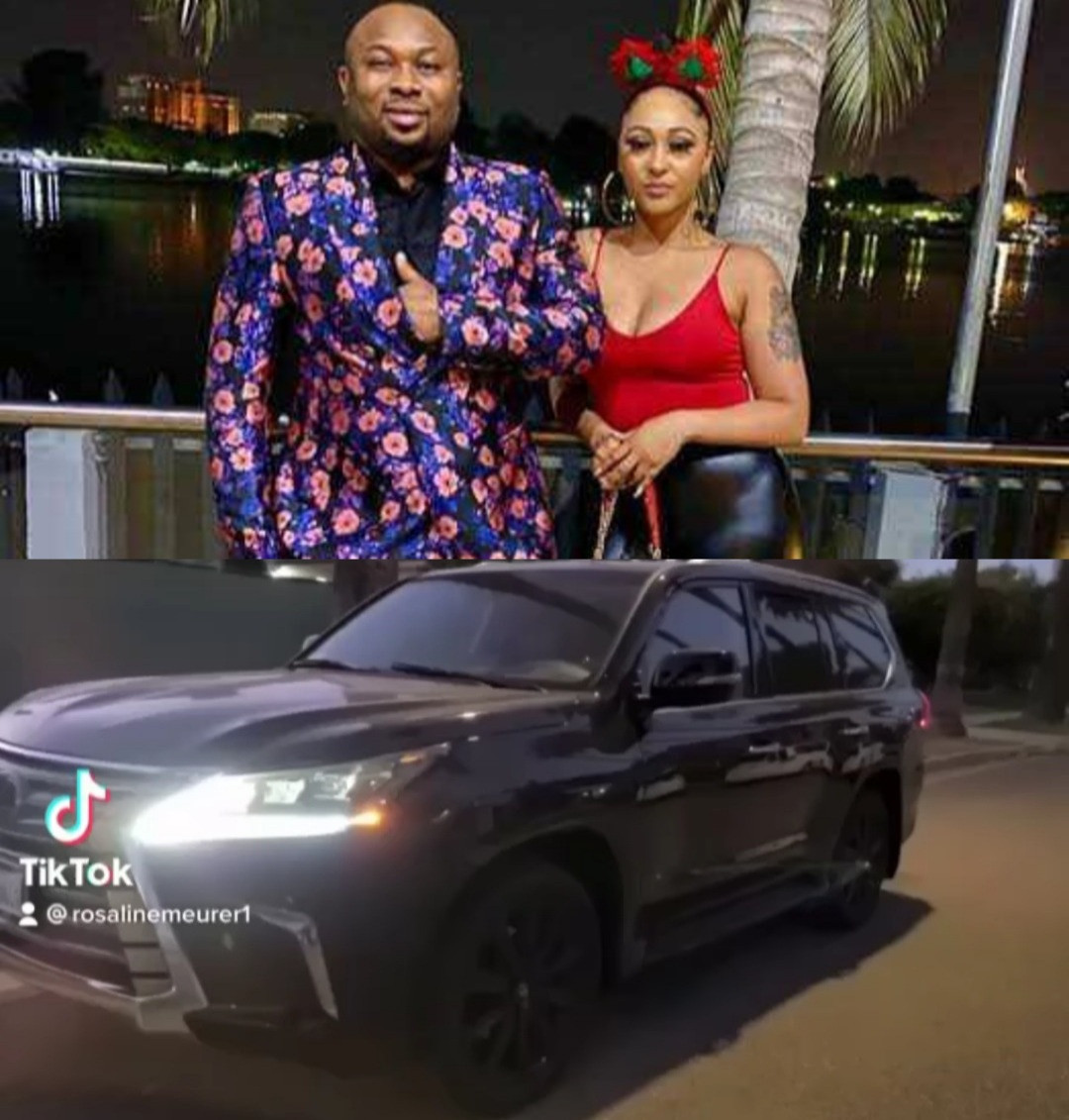 Actress, Rosy Meurer shows off the 2021 Lexus LX 570 her husband, Olakunle Churchill, gave her as a push present