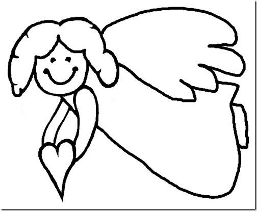 angeles colorear (6)