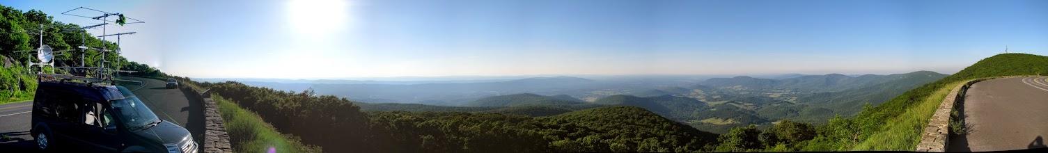 Photo: K8GP / Rover FM08US panorama - SW->N->NE