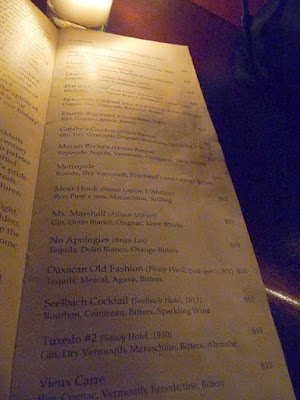 Tavern Law cocktails, Seattle