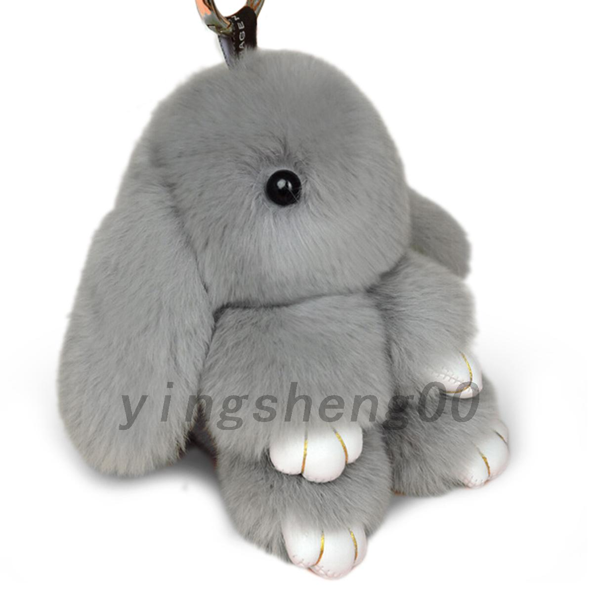 adorable fourrure lapin porte cl sac breloque pendentif. Black Bedroom Furniture Sets. Home Design Ideas