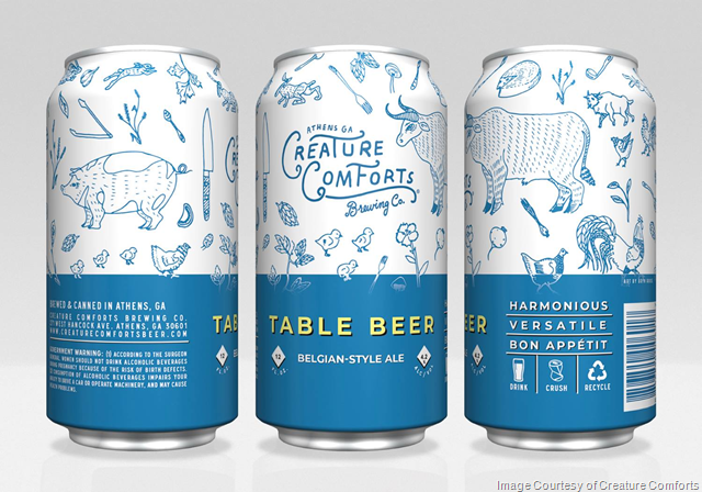 Creature Comforts Table Beer Cans Return