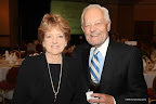 Event chairwoman Sharon Mayes with her brother, newsman Bob Schieffer.