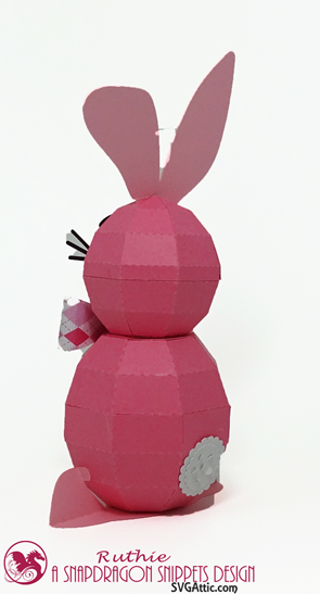 Bunny 3D Spheres Figure, SnapDragon Snippets, Ruthie Lopez  4
