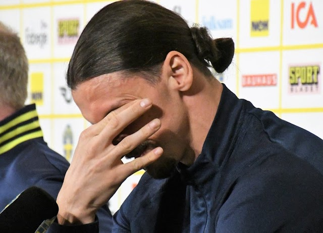 IBRAHIMOVIC BREAKS DOWN IN TEARS IN SWEDEN PRESS CONFERENCE