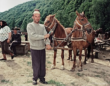 Romanian Farmer on a cattle market