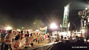 メイン会場では1500人の踊り手によるじゃこっぺ踊りが始まりました。