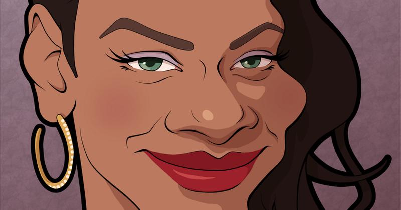 Rihanna (Cartoon Caricature)