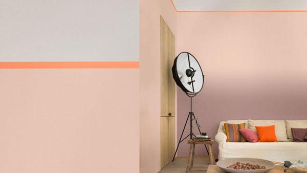 Pintar con rosa y naranja