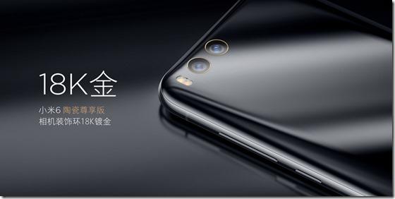 Harga Xiaomi Mi6 Exclusive Edition Ceramic dengan Cincin Emas 18K