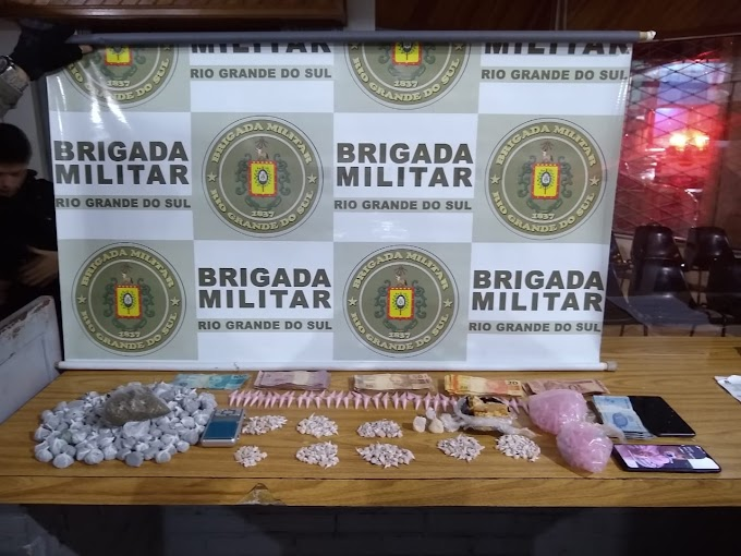 GRAVATAÍ   Brigada Militar prende homem por tráfico de drogas e recaptura foragido
