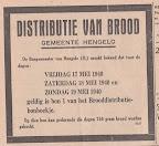 Distributie van brood, Gemeente Hengelo. 17 mei 1940