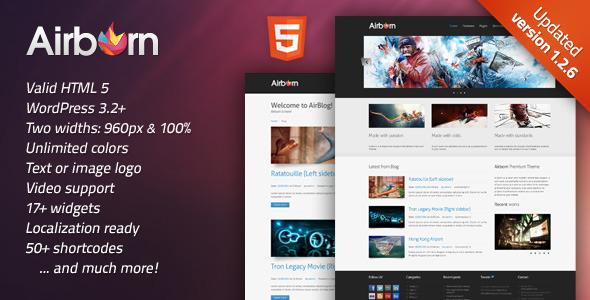 Themeforest Airborn: Portfolio / Business WordPress Theme v1.2 - Full