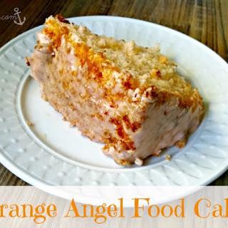 Orange Angel Food Cake.