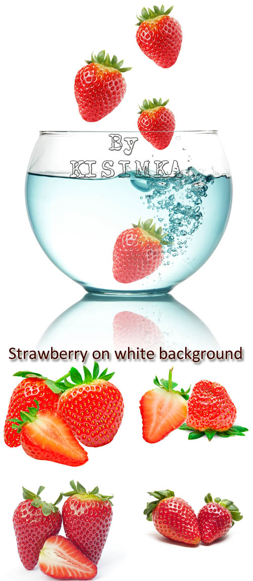 Stock Photo: Strawberry on white background