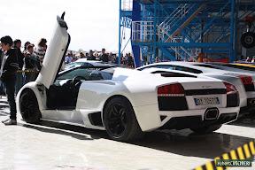 White Lamborghini Murcielago Rear