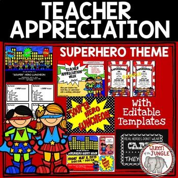 Superhero Teacher Appreciation Week Packet