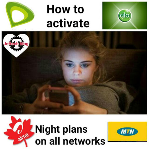 Mtn, Airtel, Glo And Etisalat Night Plans Subscription Codes.