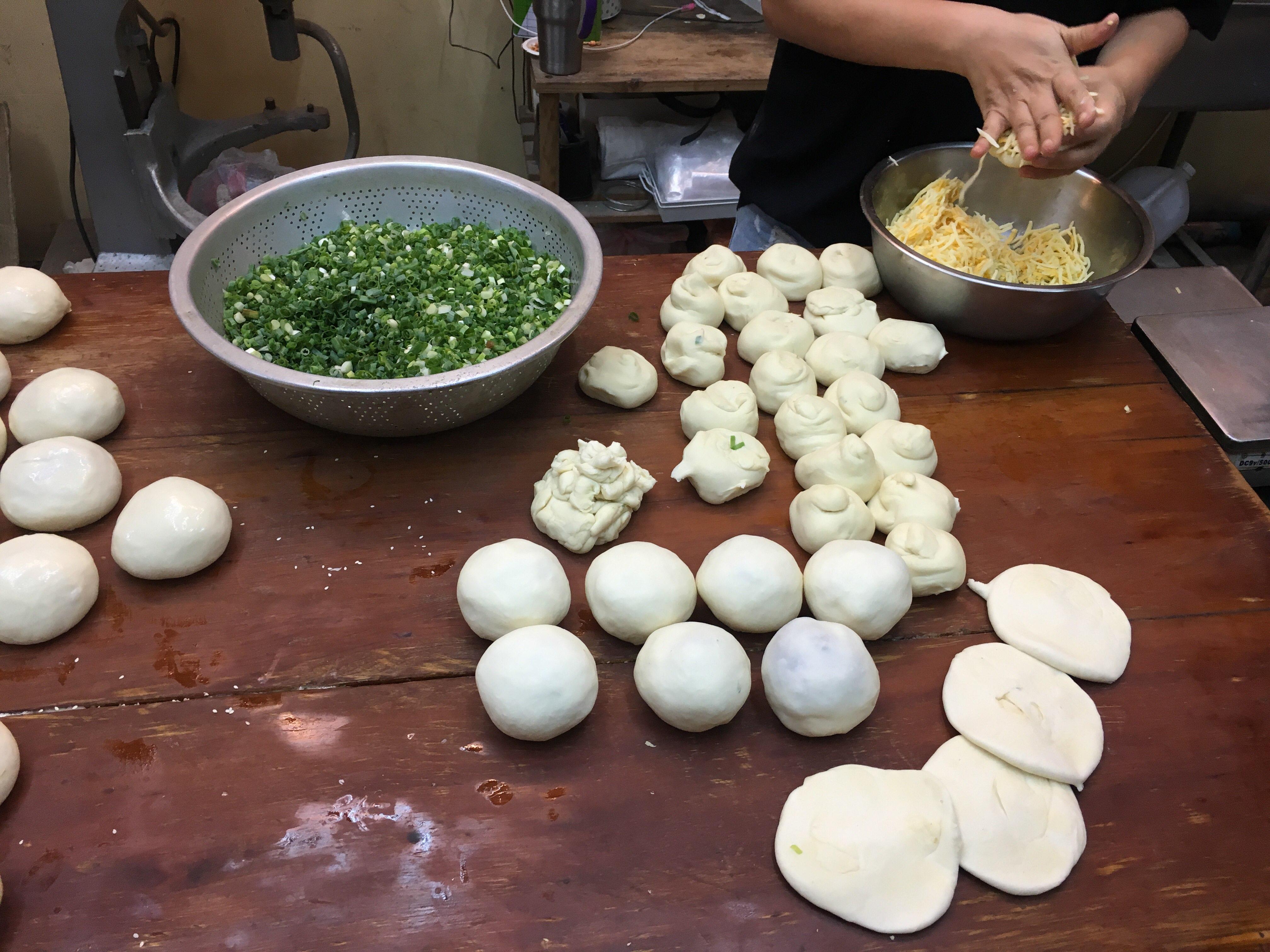 pepper bun hu jiao bing preparation