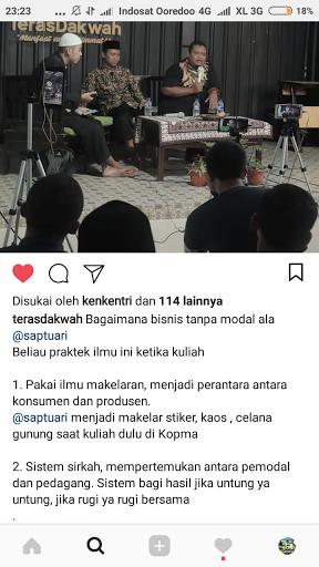Cara mencari modal usaha tanpa riba bersama Ustadz Ami Nur Baits dan Saptuari Sugiharto di Teras Dakwah Yogyakarta