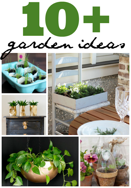 10  Garden Ideas at GingerSnapCrafts.com #garden #forthehome