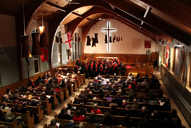 Spectacular view of St. Columba -- where most of our CDs are recorded