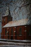 Kerk, Westerbork - 50 x 50 cm - olieverf op doek