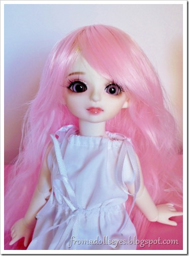 A Doll Love wig for a yosd sized ball jointed doll.