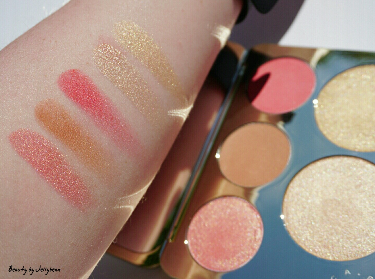 Becca x Jaclyn Hill Champagne Collection Face Palette swatches
