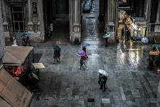 Rainy sunday in Milan, Italy