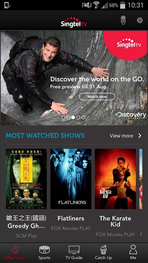Singtel TV GO- screenshot