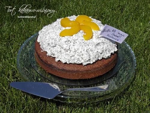 Tort kakaowo wisniowy