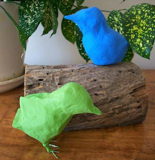 diy bird paper mache