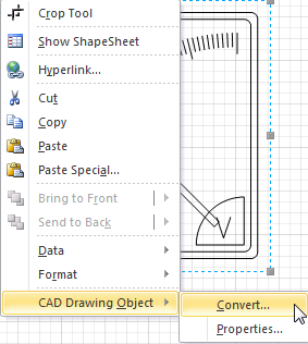 Converting AutoCAD to a native Visio shape