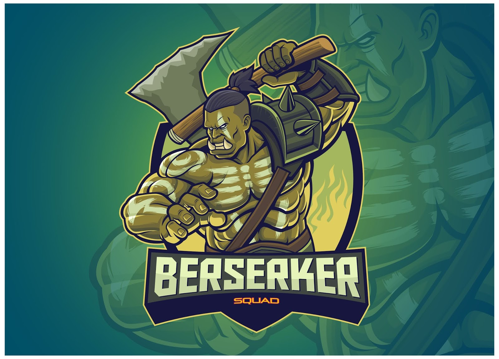 Orc Character Esports Logo Free Download Vector CDR, AI, EPS and PNG Formats