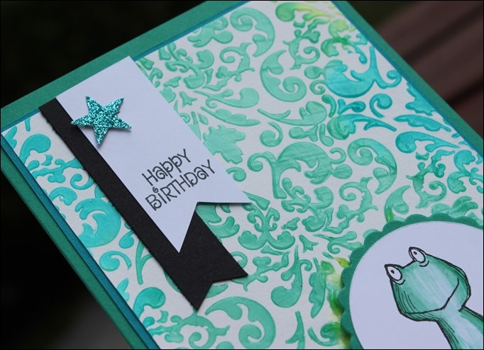 Embossing Paste Perfect Pearls Distress Ink Tim Holtz Stencil Stampin Up Love you Lots Frog Card 11