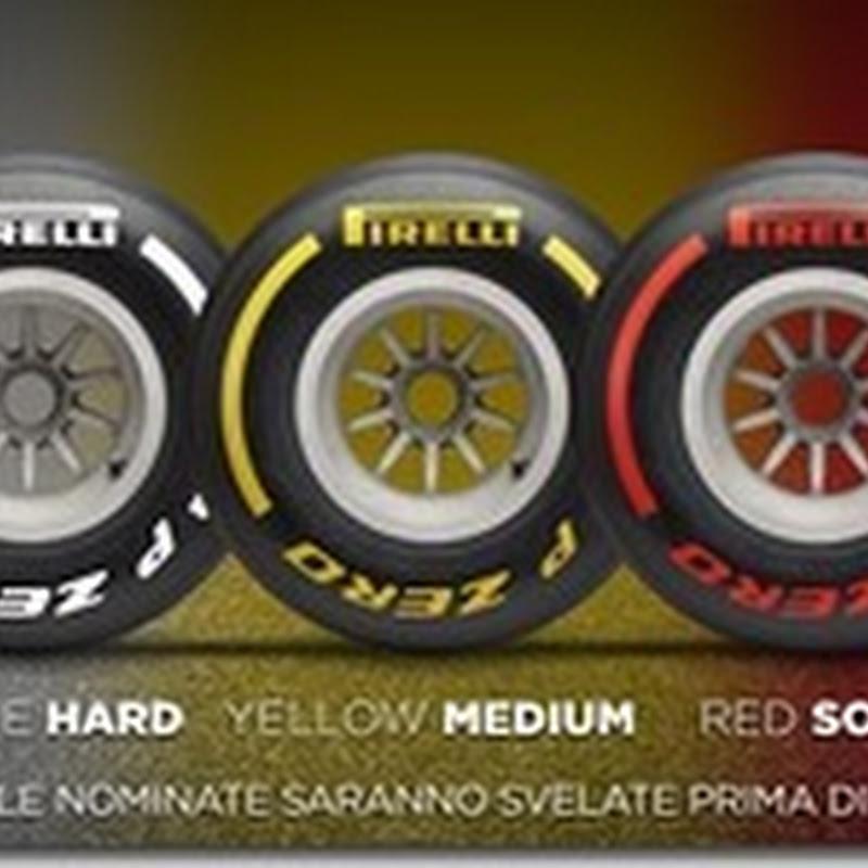 Pirelli presenta i tre colori delle gomme 2019