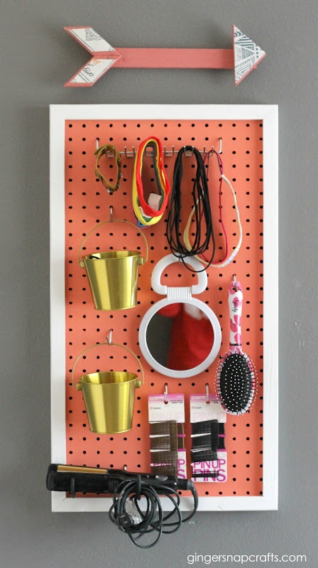 pegboard beauty organizer