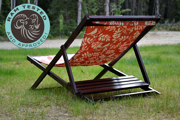 Wood Folding Sling Chair, Deck Chair Or Beach Chair   Adult Size
