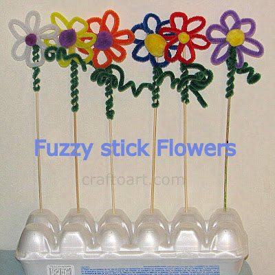 Pipe cleaner/Fuzzy stick flowers
