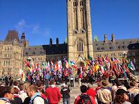 Inauguración del 14° Moot Scout Mundial en el Parlamento de Canadá