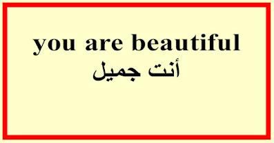 you are beautiful أنت جميل