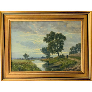 Karl Harald Alfred Broge Signed Oil Painting