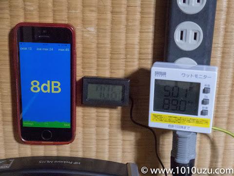 ファン交換後・BIOS:8dB・70.6℃・89.0W