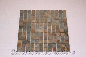 1x1, Flooring, Flooring & Mosaics, Interior, Mosaic, Multicolor, Natural, Slate, Stone, Tile, Tumbled